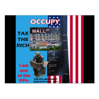 Occupy wall street - Zuccotti公園2011年 ポストカード