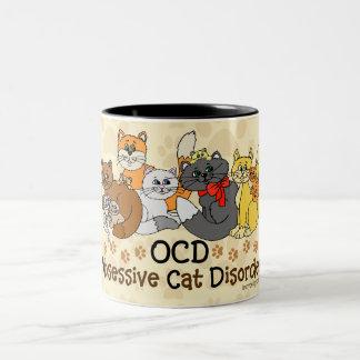 OCD執拗な猫の無秩序 ツートーンマグカップ