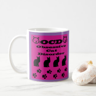 OCD-Obsessive Cat Disorder Coffee Mug コーヒーマグカップ