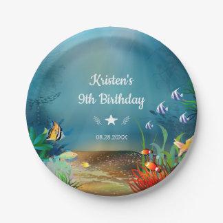 Ocean Reef Under the Sea Birthday Party ペーパープレート