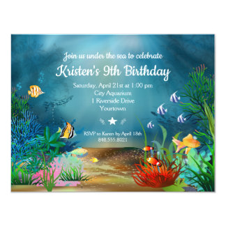 Ocean ReefUnder the Sea Birthday Party カード
