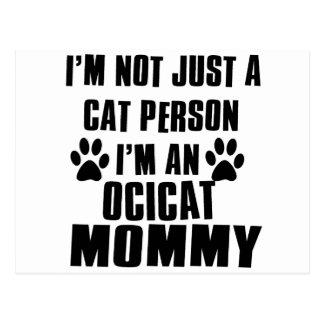 Ocicatのワイシャツ猫のデザイン ポストカード