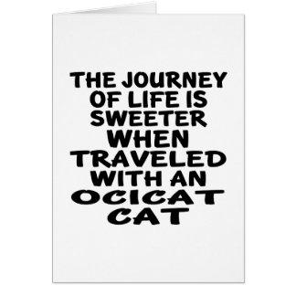 Ocicat猫と走行される カード