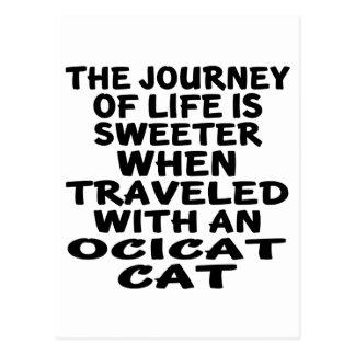 Ocicat猫と走行される ポストカード