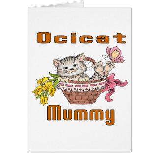 Ocicat猫のお母さん カード