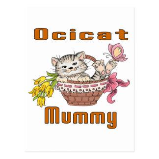 Ocicat猫のお母さん ポストカード