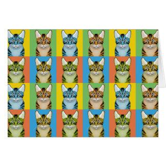 Ocicat猫の漫画の破裂音芸術 カード