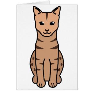 Ocicat猫の漫画 カード