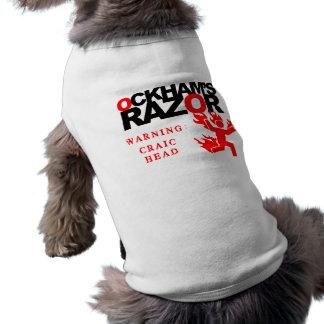 OckhamのかみそりのCraicヘッド犬のワイシャツ ペット服