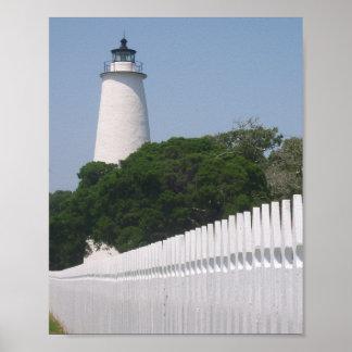 Ocracokeの島の灯台 ポスター