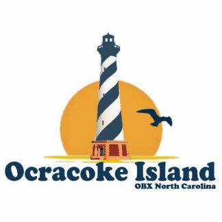Ocracokeの島 写真彫刻バッジ