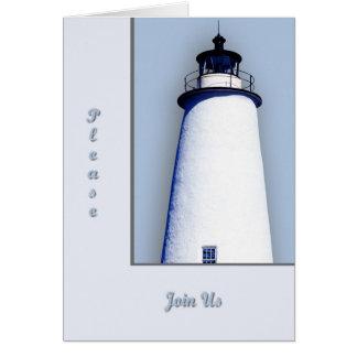 Ocracokeの灯台大将の招待 グリーティングカード