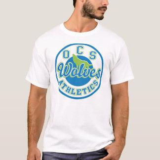OCSのオオカミの運動競技の人のTシャツ Tシャツ