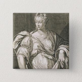 OctavianのリウィアDrusillaの(紀元前のc.55 -広告29)妻 5.1cm 正方形バッジ
