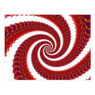 Octoの赤い螺線形 ポストカード