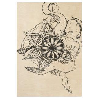 Octo曼荼羅のプリント ウッドポスター