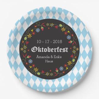 Octoberfestのオクトーバーフェストのパーティーのプレート-カスタマイズ ペーパープレート