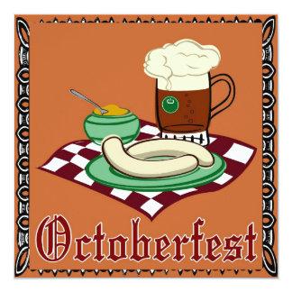 Octoberfestのドイツ語オクトーバーフェスト カード