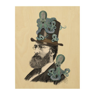 Octopus博士 ウッドウォールアート