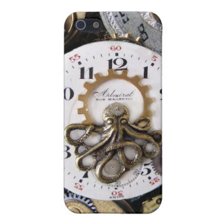 Octopus海軍大将の壊中時計のSteampunkのiphoneの場合 iPhone 5 カバー