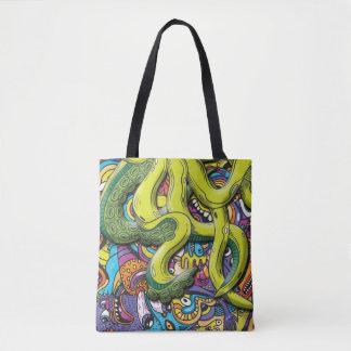 Octopus Attack トートバッグ