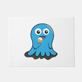 Octupusの食べ物のアイスクリームの漫画 ドアマット
