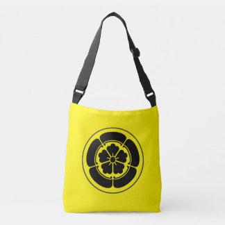 Oda月曜日の日本のな武士の一族は黄色で黒くします クロスボディトートバッグ