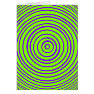 Oddisphereの紫色のライムの目の錯覚 カード