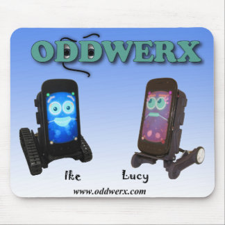 Oddwerx Ike及びルーシーのロゴのマウスパッド マウスパッド