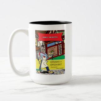 Odee Dickensのクラシックな漫画のマグ ツートーンマグカップ
