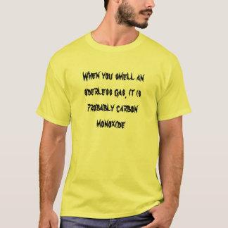 oderlessガスをかぐとき、…おそらくあります tシャツ