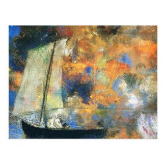 Odilon Redon-の花の雲 ポストカード