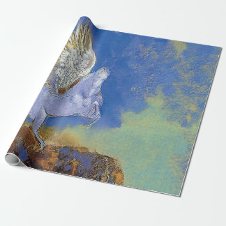 Odilon Redon Pegasus - Greek Mythology Symbolism ラッピングペーパー