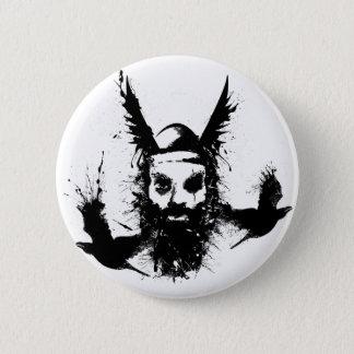 Odinおよびカラスボタン 5.7cm 丸型バッジ