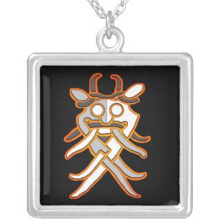 Odinのマスクのネックレス シルバープレートネックレス