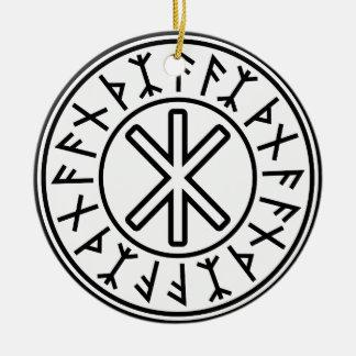 Odinの保護No.2 (黒) セラミックオーナメント