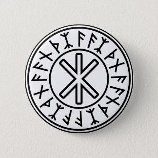 Odinの保護No.2 (黒) 5.7cm 丸型バッジ