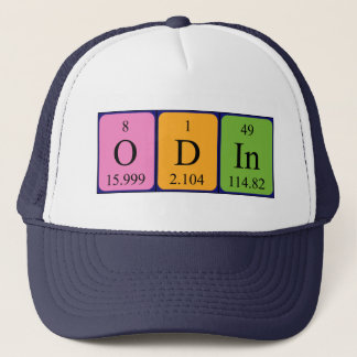 Odinの周期表の名前の帽子 キャップ