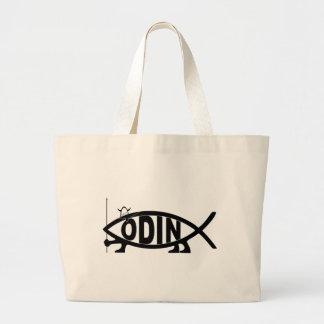Odinの魚 ラージトートバッグ