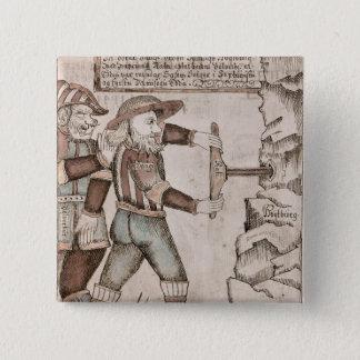 Odin著説得される巨人Baugi 5.1cm 正方形バッジ