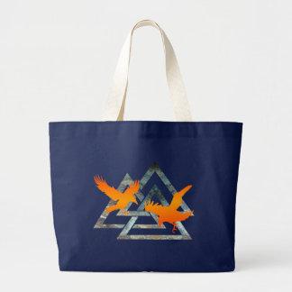 Odinsのワタリガラスのバッグ ラージトートバッグ