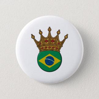 Ofブラジル王 5.7cm 丸型バッジ