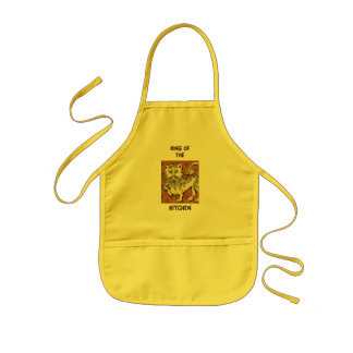 Of Kitchen王 子供用エプロン