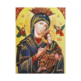 OF PERPETUAL HELP ICON私達の女性 キャンバスプリント