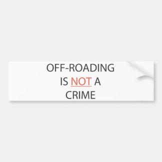 OFF-ROADINGは罪ではないです バンパーステッカー