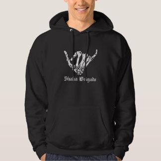 OG骨組Shaka -黒いフード付きスウェットシャツ パーカ