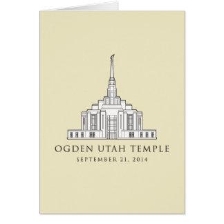 Ogdenユタの寺院。 2014年9月21日。挨拶状 カード