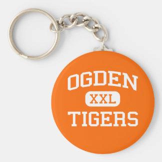Ogden -トラ- Ogdenの高等学校- Ogdenユタ ベーシック丸型缶キーホルダー