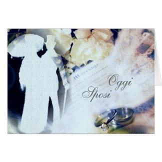 Oggi Sposi -イタリアンな結婚式の発表カード カード
