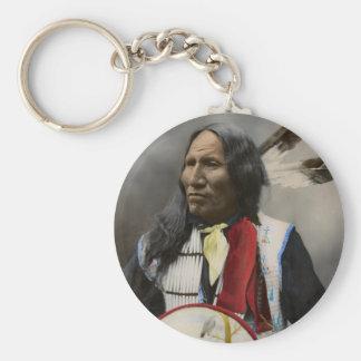 Oglalaスー族1899のインディアンのヴィンテージの叫び キーホルダー